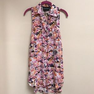 MINK PINK Floral Dress Coverup Long Tunic XS